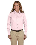 M500W - Harriton Ladies' Easy Blend™ Long-Sleeve Twill Shirt with Stain-Release