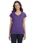 G64VL Gildan Ladies' SoftStyle® 4.5oz. Fitted V-Neck T-Shirt