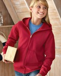 993B Jerzees Youth 8oz. NuBlend® 50/50 Full-Zip Hood