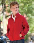 M990Y Harriton Youth 8oz. Full-Zip Fleece