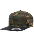 6089 - Yupoong Adult 6-Panel Structured Flat Visor Classic Snapback