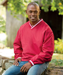 8926 - UltraClub Adult Long-Sleeve Microfiber Crossover V-Neck Windshirt