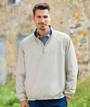 8936 - UltraClub Adult Micro-Poly Quarter-Zip Windshirt