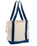12oz. Organic Cotton Canvas Boat Tote Bag