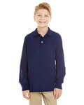437YL-SR - Jerzees Youth 5.6 oz. SpotShield™ Long-Sleeve Jersey Polo