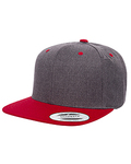 6089MT - Yupoong Adult 6-Panel Structured Flat Visor Classic Two-Tone Snapback