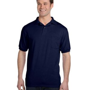 Hanes 054P Men's 5.5oz., 50/50 EcoSmart® Jersey Pocket Polo Thumbnail