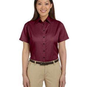 M500SW Harriton Ladies' Easy Blend™ Short-Sleeve Twill Shirt with Stain-Release Thumbnail