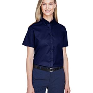 Core 365 Ladies' Optimum Short-Sleeve Twill Shirt Thumbnail