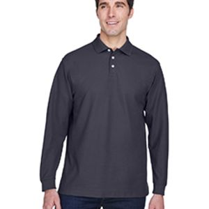 D110 Devon & Jones Men's Pima Piqué Long-Sleeve Polo Thumbnail