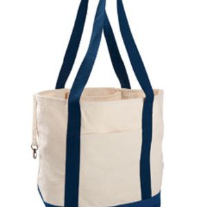 12oz. Organic Cotton Canvas Boat Tote Bag Thumbnail