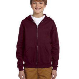 993B Jerzees Youth 8 oz., 50/50 NuBlend® Fleece Full-Zip Hood Thumbnail