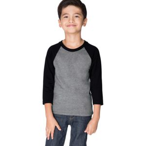 3352 Next Level Youth CVC 3/4-Sleeve Raglan Tee Thumbnail