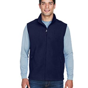 88191 Ash City - Core 365 Men's Journey Fleece Vest Thumbnail