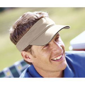 BT3V Big Accessories Washed Twill Sandwich Visor Thumbnail