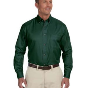 M500 - Harriton Men's Easy Blend™ Long-Sleeve Twill Shirt with Stain-Release Thumbnail