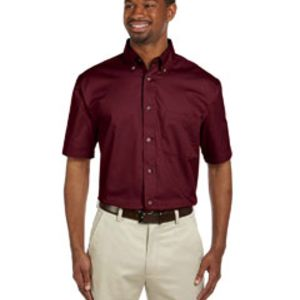 M500S - Harriton Men's Easy Blend™ Short-Sleeve Twill Shirt with Stain-Release Thumbnail