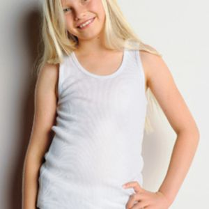 Bella 9400 Girls' 5.8 oz., 2x1 Rib Tank Thumbnail