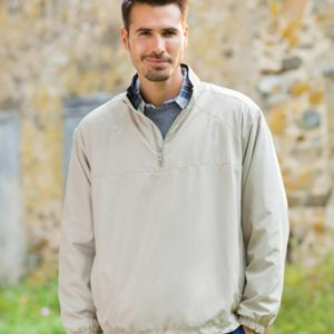 8936 - UltraClub Adult Micro-Poly Quarter-Zip Windshirt Thumbnail