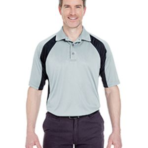 8427 - UltraClub Adult Cool & Dry Sport Performance Colorblock Interlock Polo Thumbnail