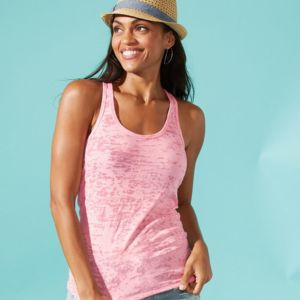 N6533 - Next Level Ladies' Burnout Racerback Tank Thumbnail