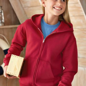993B Jerzees Youth 8oz. NuBlend® 50/50 Full-Zip Hood Thumbnail