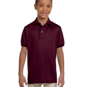Jerzees 437Y Youth  5.6oz., 50/50 Jersey Polo with SpotShield™ Thumbnail