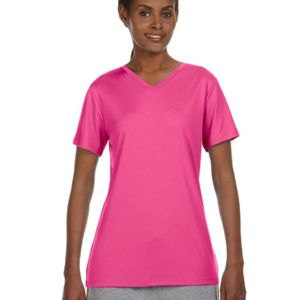 483V Hanes Ladies' 4 oz. Cool Dri® V-Neck T-Shirt Thumbnail