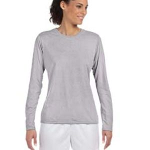 G424L Gildan Performance™ Ladies' 4.5 oz. Long-Sleeve T-Shirt Thumbnail