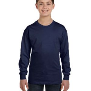 5546 Hanes Youth 6.1 oz. Tagless® ComfortSoft® Long-Sleeve T-Shirt Thumbnail
