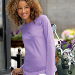 LAT 3588 - Ladies' 5.5 oz. Combed Ringspun Long-Sleeve T-Shirt Thumbnail