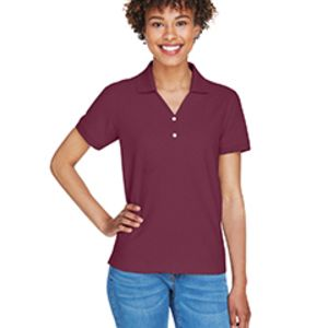 D100W Devon & Jones Ladies' Pima Piqué Short-Sleeve Y-Collar Polo Thumbnail