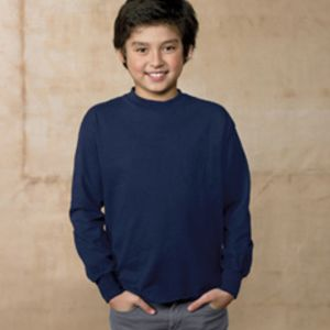 Hanes 5546-old Youth 6.1 oz. Tagless® ComfortSoft® Long-Sleeve T-Shirt Thumbnail
