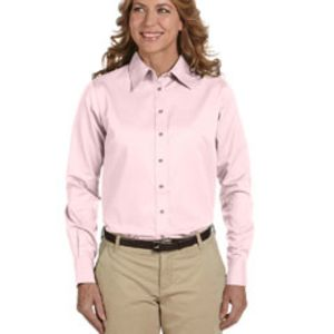 M500W - Harriton Ladies' Easy Blend™ Long-Sleeve Twill Shirt with Stain-Release Thumbnail