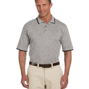 M210 Harrinton Adult 6 oz. Short-Sleeve Piqué Polo with Tipping Thumbnail