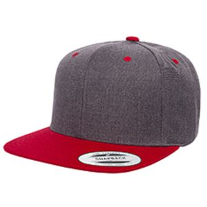 6089MT - Yupoong Adult 6-Panel Structured Flat Visor Classic Two-Tone Snapback Thumbnail