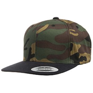 6089 - Yupoong Adult 6-Panel Structured Flat Visor Classic Snapback Thumbnail