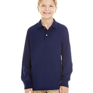 437YL-SR - Jerzees Youth 5.6 oz. SpotShield™ Long-Sleeve Jersey Polo Thumbnail