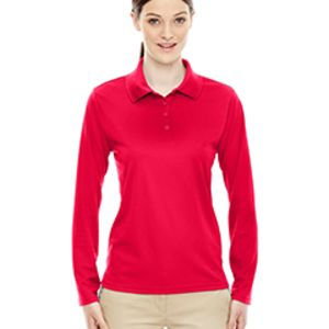 78192 - Core 365 Ladies' Pinnacle Performance Long-Sleeve Piqué Polo Thumbnail